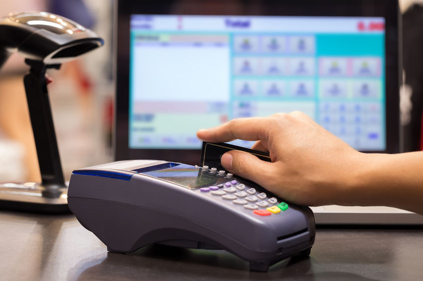 cash register point of sale POS shopping retail